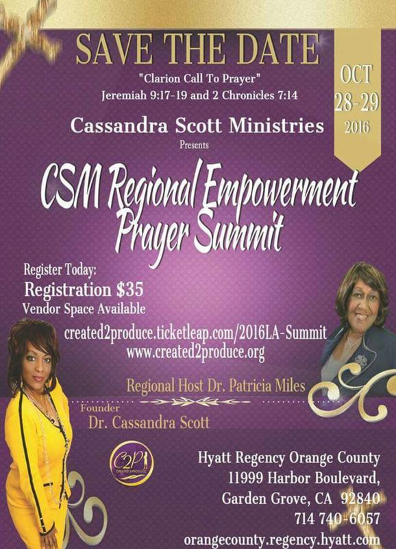 CSM LA Regional Empowerment Prayer Summit 2016