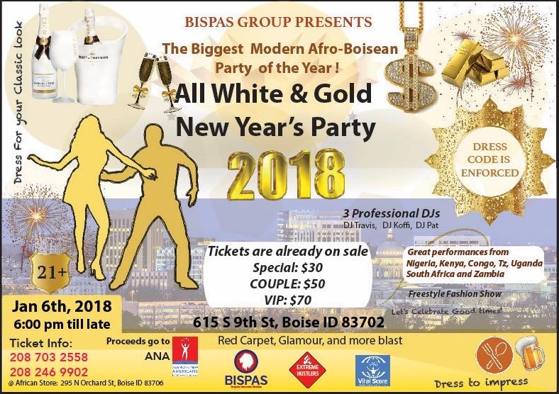 ALL WHITE AND GOLD NEW YEAR'S PARTY