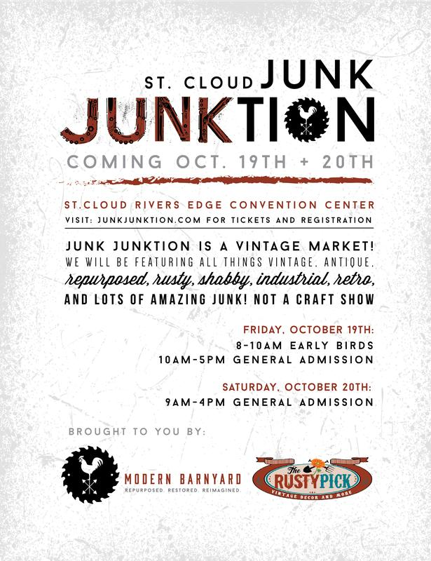 Junk Junktion Vendor Registration for October 19th & 20th 2018