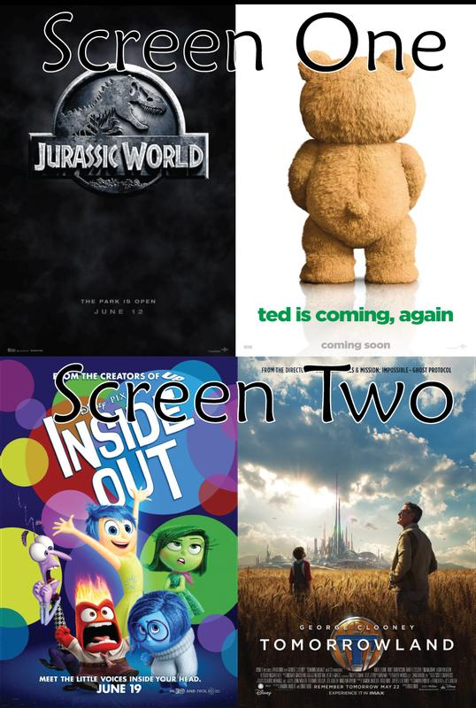 Jurassic World - TED 2 - Inside Out - Tomorrowland