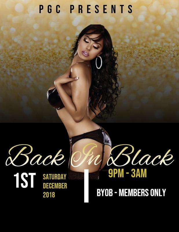 Saturday 12/1 PGC's Back In Black Party!!!