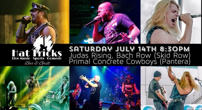 Judas Rising, Primal Concrete Cowboys (Pantera) and Bach Row (Skid Row)