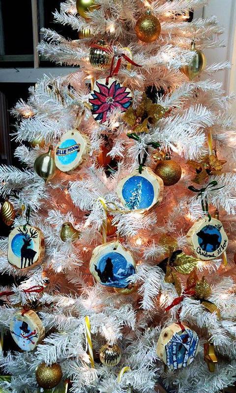 Blue Moon Ornaments