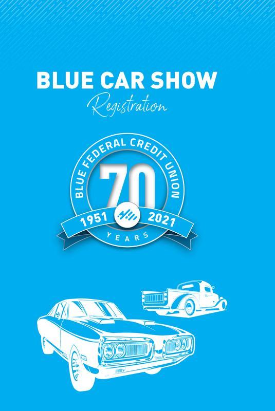 Blue CAR REGISTRATION (Car Show)