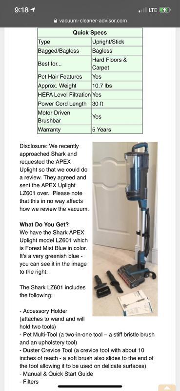 Shark Apex Upright Duoclean Vacuum Raffle