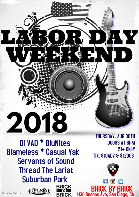 Labor Day Weekend Kick-Off Bash 2018
