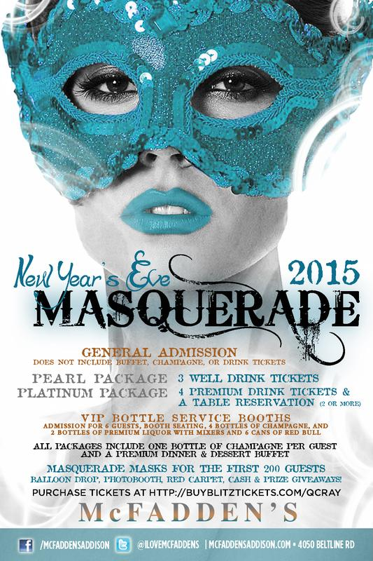 New Year's Eve Masquerade McFadden's Addison