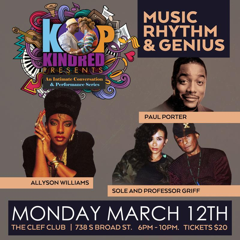Kindred presents featuring Ledisi,Alyson Williams,Professor Griff,Sole and Paul Porter