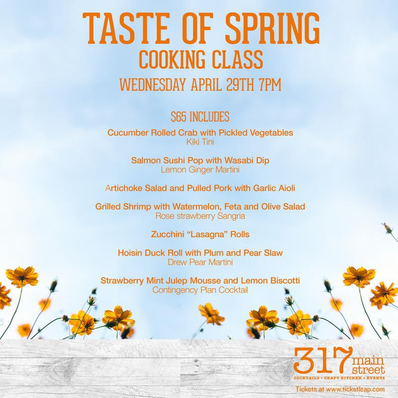 A Taste of Spring Cooking Class