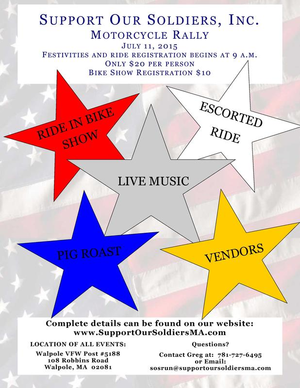 2015 Support Our Soldiers Motorcycle Rally