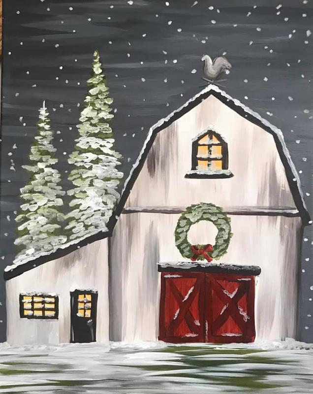 A Thirst For Art at Little Sandy's {Winter White Barn}