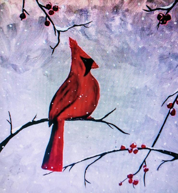 Riffhouse Winter Painting