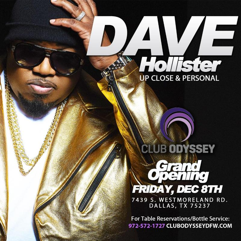 Club Odyssey Grand Opening - Dave Hollister LIVE in Concert 12/15/17