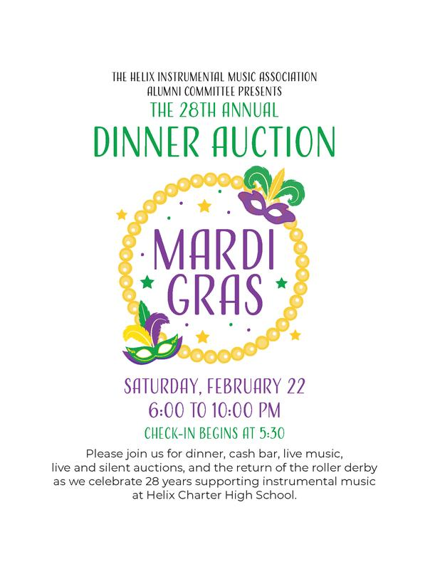2020 Helix Instrumental Dinner Auction