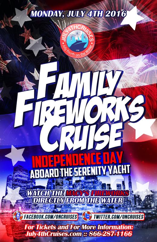2016 INDEPENDENCE DAY FAMILY FIREWORKS CRUISE - SERENITY