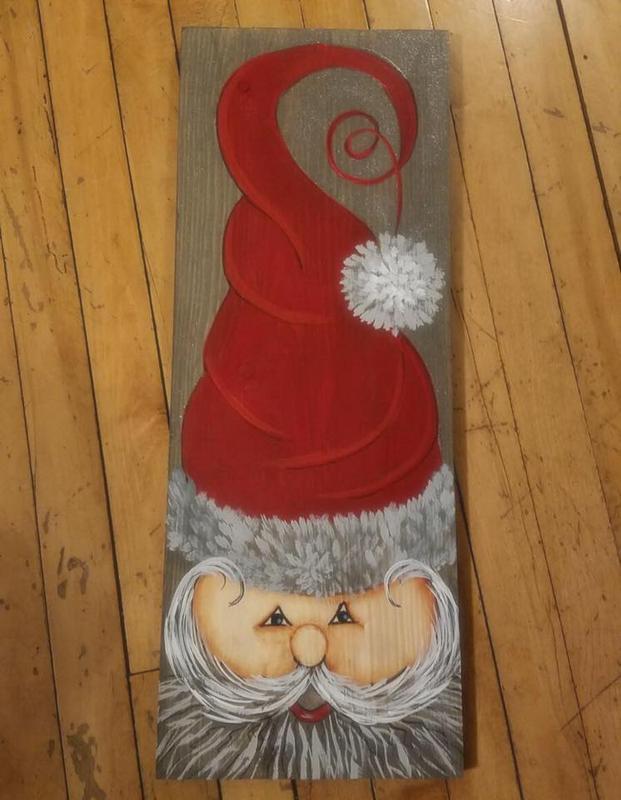 Santa Hat on Wood 11/28