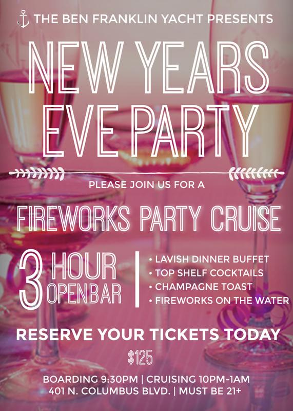 Ben Franklin Yacht New Years Eve 2018