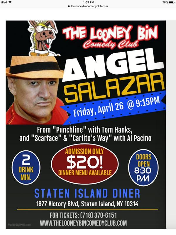 Angel Salazar from Scarface comes to the Staten Islan Diner