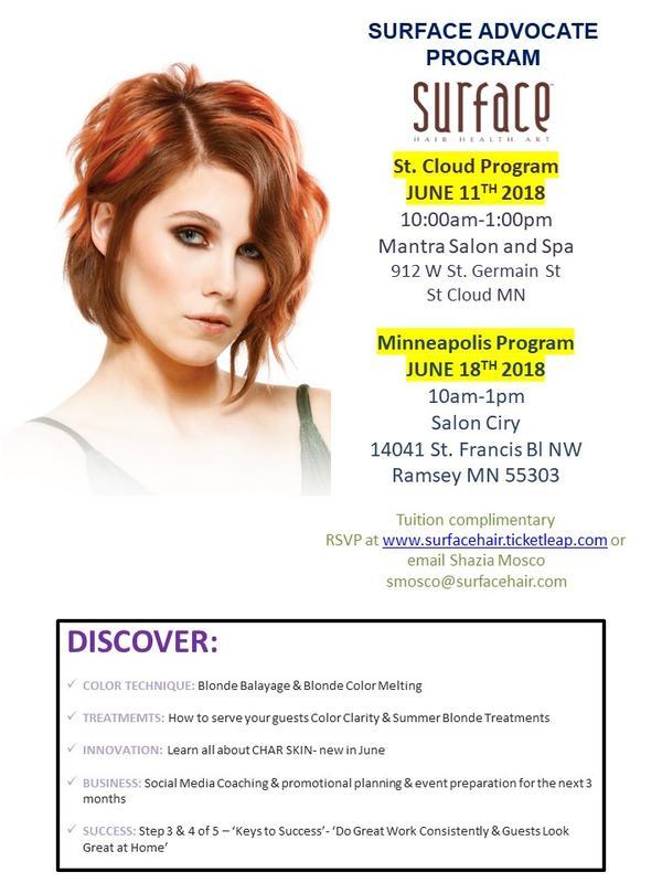 Surface Advocate Program @ SalonCiry