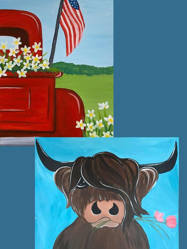 A Thirst For Art at Mountain State {Spring Truck or Highland Cow}