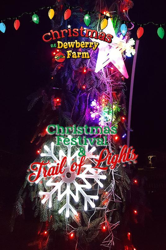 2018 Dewberry Farm Christmas Festival - Trail of Lights
