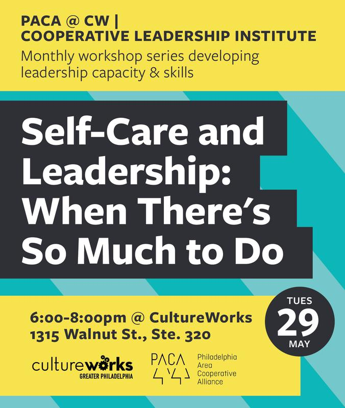 PACA @ CW // Self-Care and Leadership: When there's so much to do!