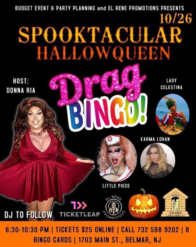 Spooktacular hallowqueen Drag Bingo