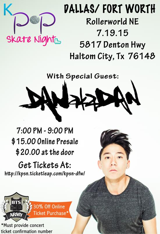 Kpop Skate Night DFW with special guest DANakaDAN!!
