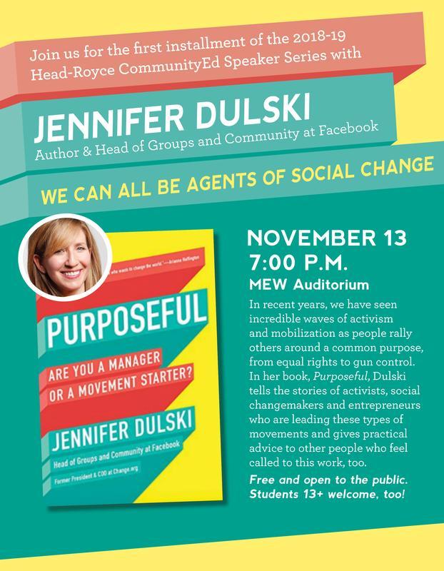 Head-Royce Speaker Series presents Jennifer Dulski