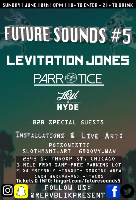 Future Sounds 5 w/ Levitation Jones & Parrotice [Permanent Vacation Tour]