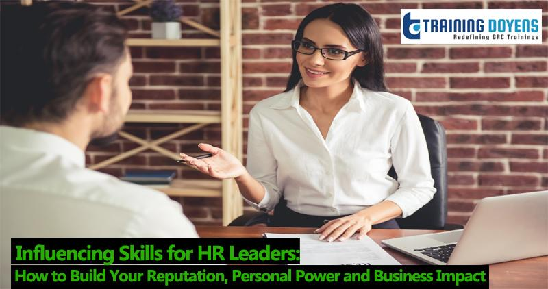 Live Webinar on Influencing Skills for HR Leaders: How to Build Your Reputation, Personal Power and Business Impact