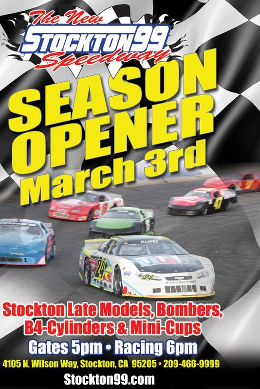 March 3, 2018 - Stockton 99 SEASON OPENER - Stockton Late Models, Bombers, B4 Cylinders & Mini Cups