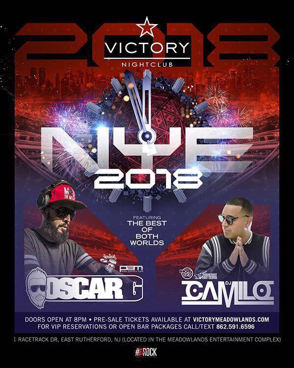 NYE 2018 Oscar G & DJ Camilo Live At Victory Nightclub