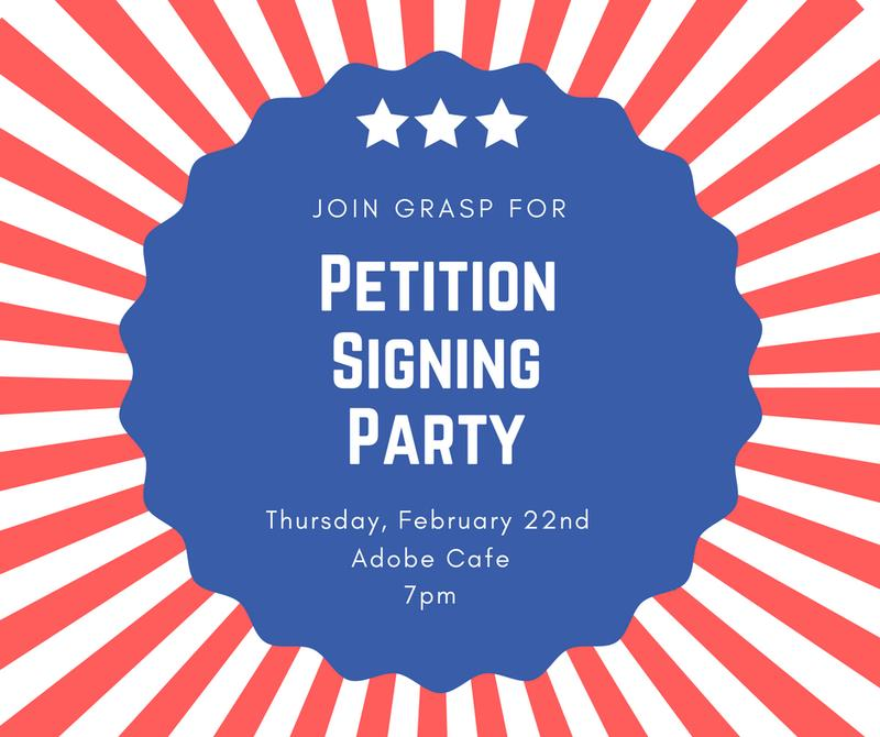 Petition Party at Adobe Cafe