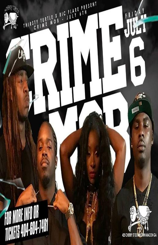 First Friday with Crime Mob at The Thirsty Turtle