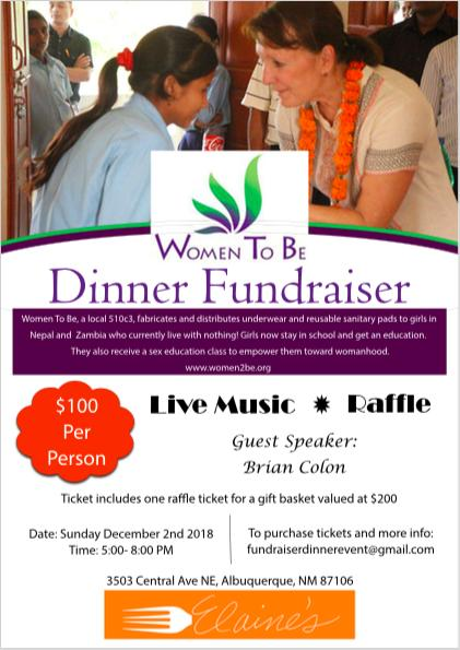 Women To Be Fundraiser Dinner