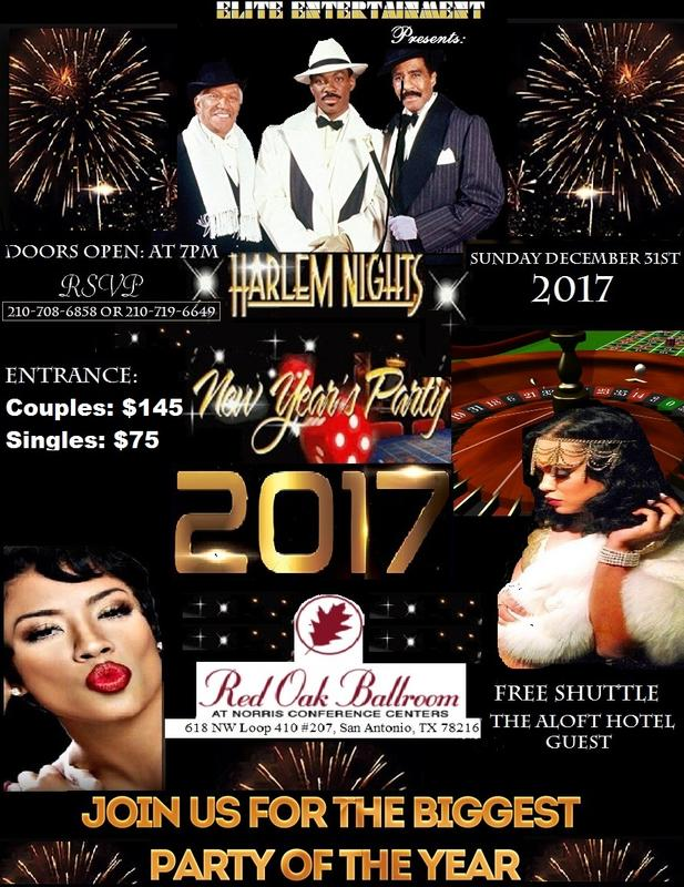 Elite Entertainment Presents Harlem Nights NYE Party