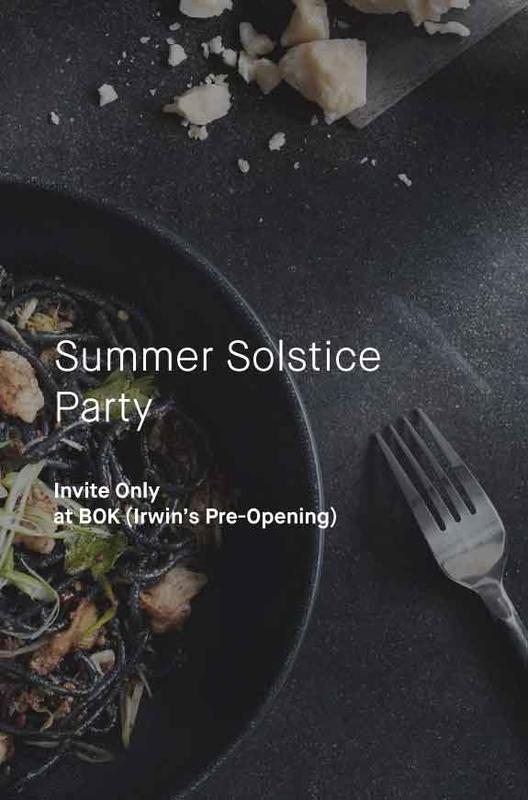 RESCHEDULED - Summer Solstice at Irwin's at BOK (Invite Only)