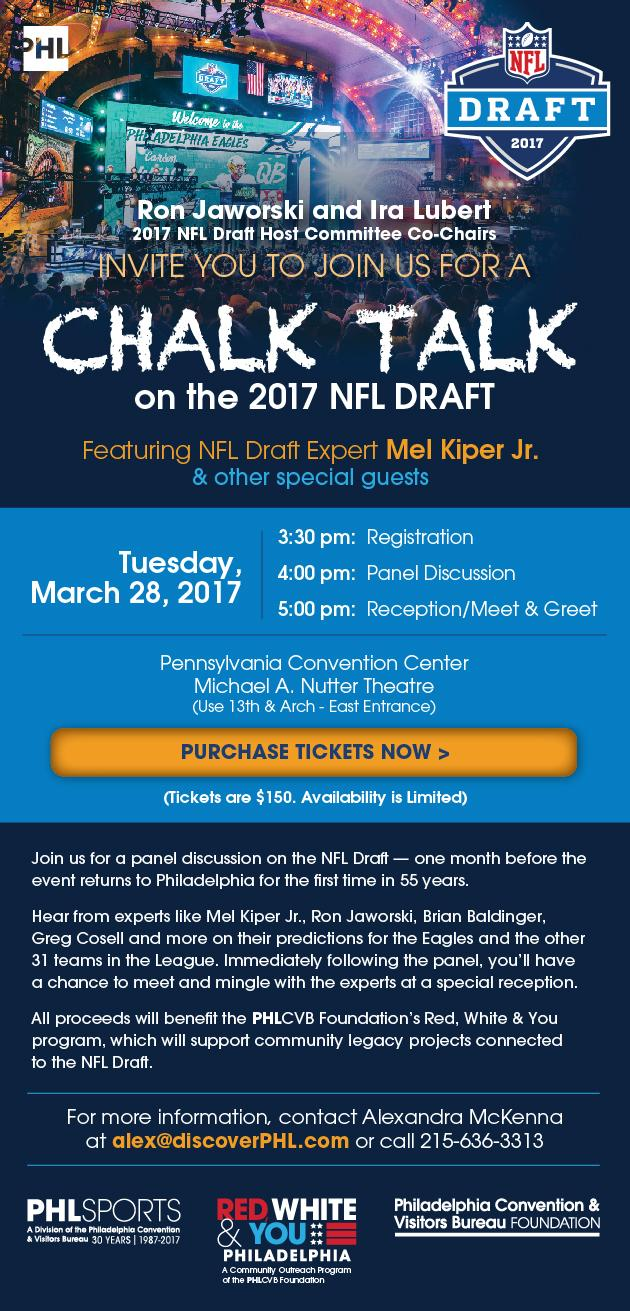 CHALK TALK on the 2017 NFL DRAFT Tickets in Philadelphia, PA