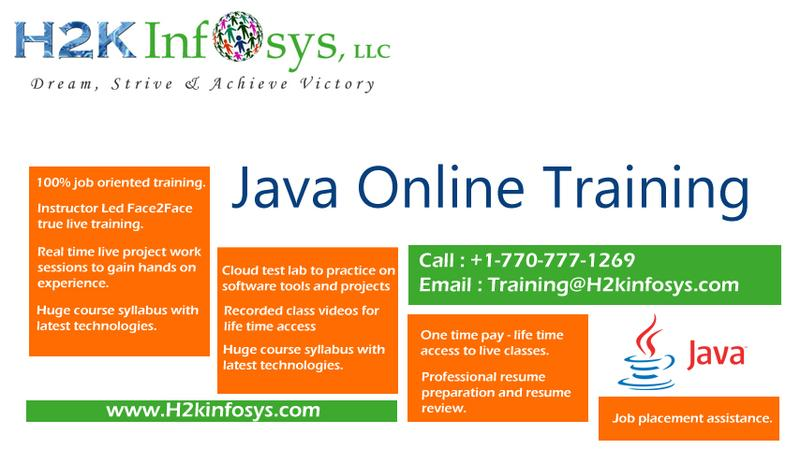 Advanced Java Online Training with Placement Assistance