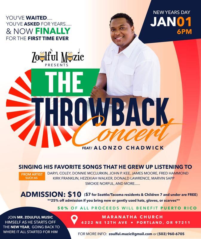Alonzo Chadwick Throwback Gospel Concert (Benefit)