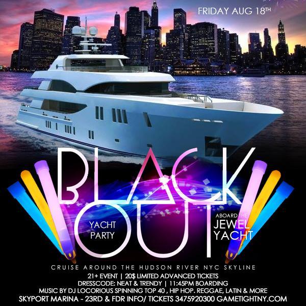 NYC Blackout Yacht Party at Skyport Marina Jewel Yacht