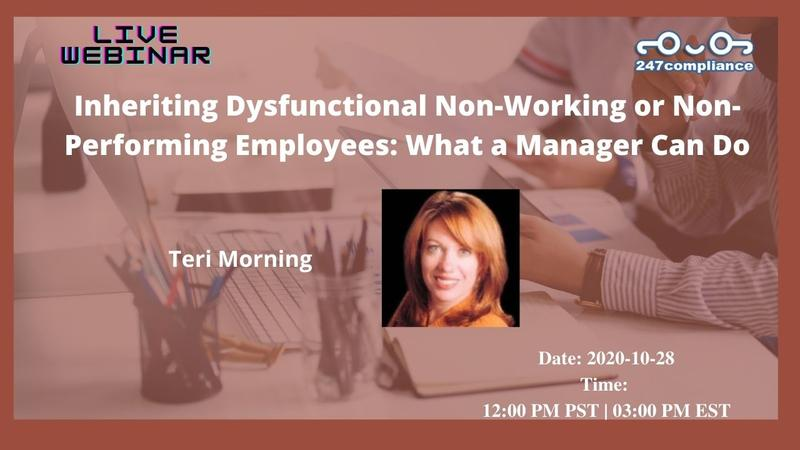Inheriting Dysfunctional Non-Working or Non-Performing Employees: What a Manager Can Do