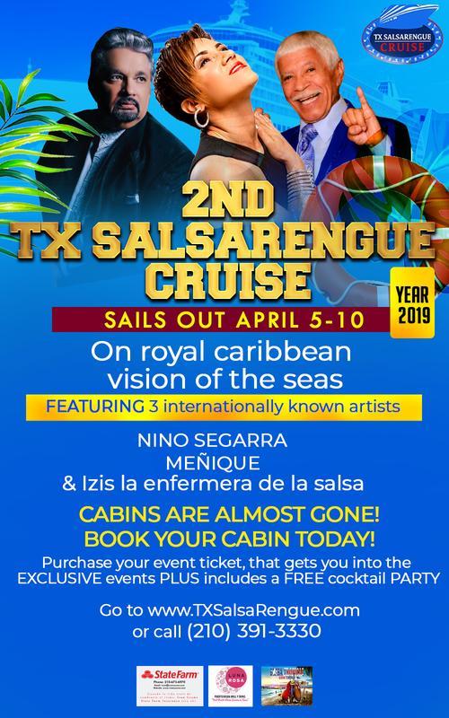 TX salsarengue Cruise 2019 APRIL