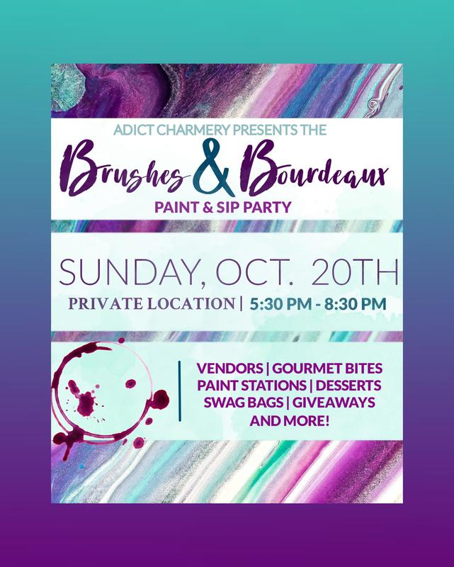 Adict Charmery's 'Brushes & Bordeaux' Paint & Sip Party!