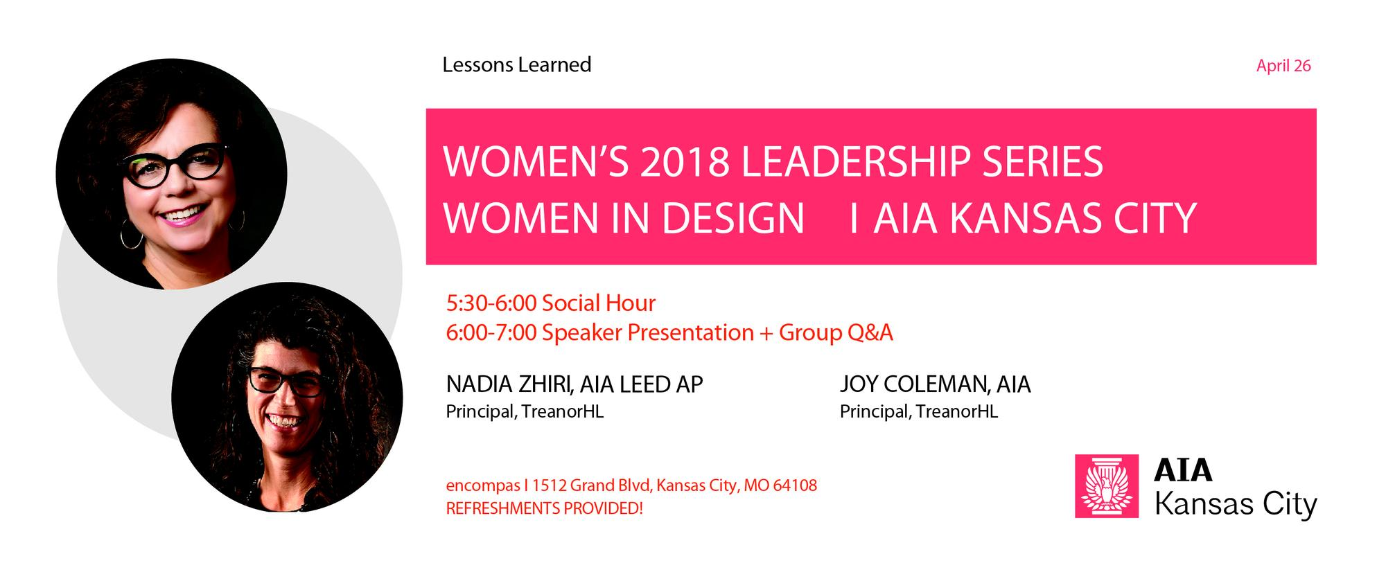 WiD: Women's Leadership Series: Joy Coleman and Nadia Zhiri