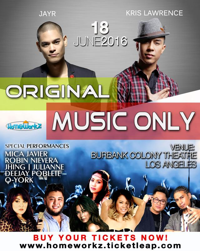 Original Music Only Concert Los Angeles