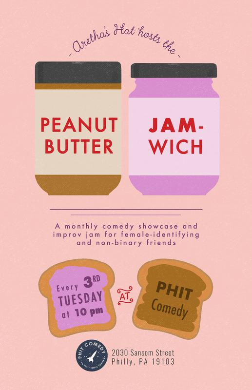 Peanut Butter Jam-wich featuring Aretha's Hat