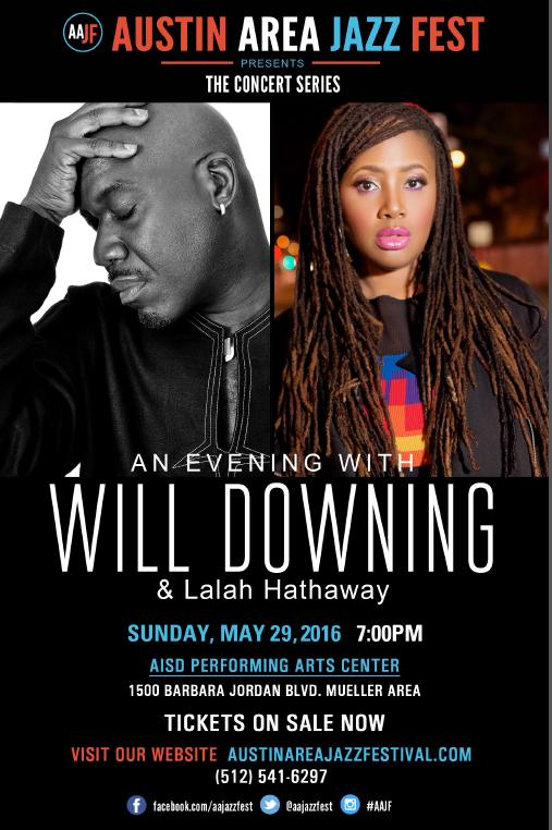 Austin Area Jazz Festival Presents An Evening With Will Downing and Lalah Hathaway