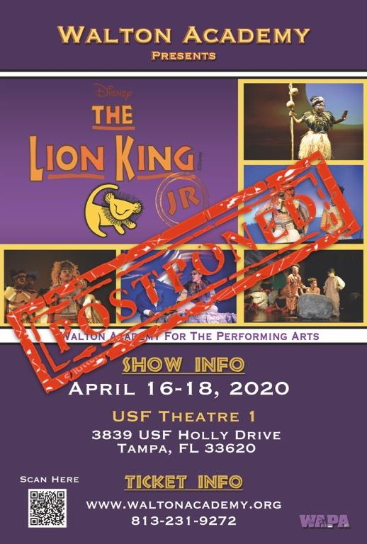 The Lion King Jr. 2020 POSTPONED